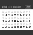 simple icons world blood donor day vector image vector image