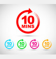 ten minutes icon set vector image
