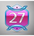 Twenty seven years anniversary celebration silver vector image vector image