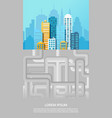 urban canalization colorful poster vector image vector image