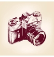 vintage old photo camera llustration vector image vector image