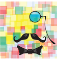 Vintage silhouette of mustaches monocle vector image vector image