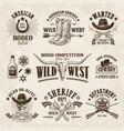 vintage western labels and badges set vector image vector image
