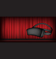 virtual reality glasses headset vector image