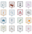 Web icons grunge labels vector image vector image