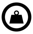 weight black icon in circle vector image