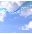 White line over cloud in blue sky vector image