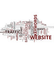 your guide towards guaranteed web traffic text vector image vector image