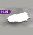 high quality map of poland with borders of the vector image