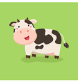 Cute Cow Standing in Green Background vector image