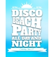 Flyer on summer dance party vector image