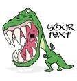 Tyrannosaurus graffiti vector image