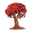 Tree with leaves are heart-shaped romantic symbol vector image