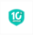 Anniversary badge isolated vector image vector image