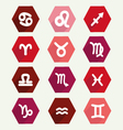 astrology simbols in flat style vector image vector image