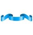 blue ribbon scroll vector image vector image