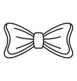 bride bow tie icon outline style vector image