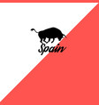 bull sign spain vector image vector image