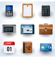 Business icons collection vector image vector image