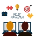 Business project management vector image vector image