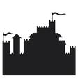castle silhouette vector image vector image