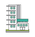 city building icon image vector image vector image