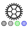 clock wheel flat icon vector image vector image