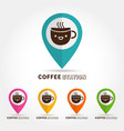 coffee cute cup logocofee station concept vector image