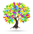 colored tree vector image vector image