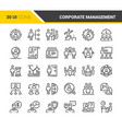 corporate management icons vector image