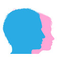 couple faces silhouettes vector image