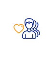 couple love line icon group of men sign vector image