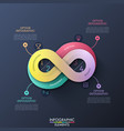 creative infographic design template in shape of vector image