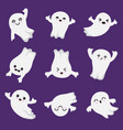 cute kawaii ghost halloween scary ghostly vector image vector image