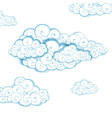Decorative background with clouds Sketch vector image vector image