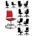 desk chair vector image vector image