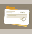 document receipt paper pile book keeping vector image