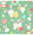 Easter cartoon seamless pattern vector image