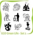 ECO - Green Life - set 2 vector image