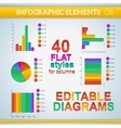 Editable info graphic diagrams in flat colors with vector image vector image