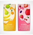 Fruits banners vertical vector image vector image
