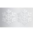 Glass transparent snowflake Christmas vector image