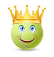Golden crown on ball for tennis vector image vector image