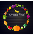 Healthy eating concept with flat fruits vector image vector image