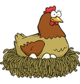 hen on nest vector image