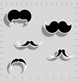 hipster image with mustache for photo props vector image