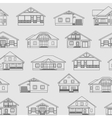 Houses linear pattern 1 vector image