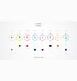 infographics timeline design vector image vector image