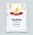 invitation card template 4 years anniversary vector image vector image