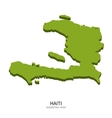 Isometric map of Haiti detailed vector image vector image